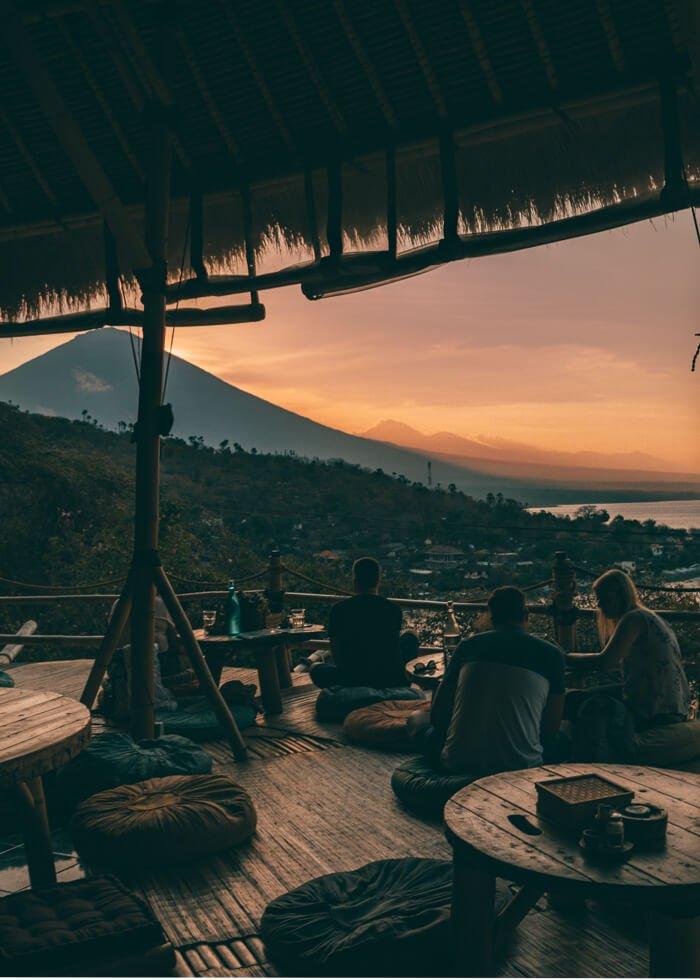 Amed, Bali, Indonésia - Praia