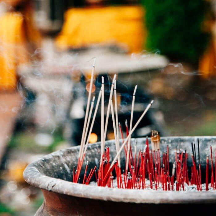 Chiang Mai, Tailândia - Incensos