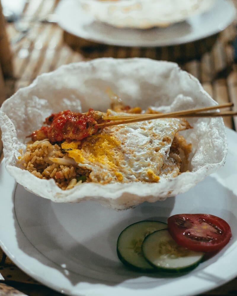 Ilhas Gili - comida local