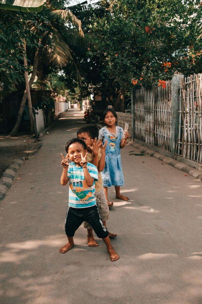 Gili Air - crianças