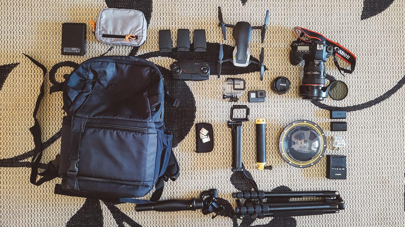 Equipamentos fotográficos - fotografia de viagem