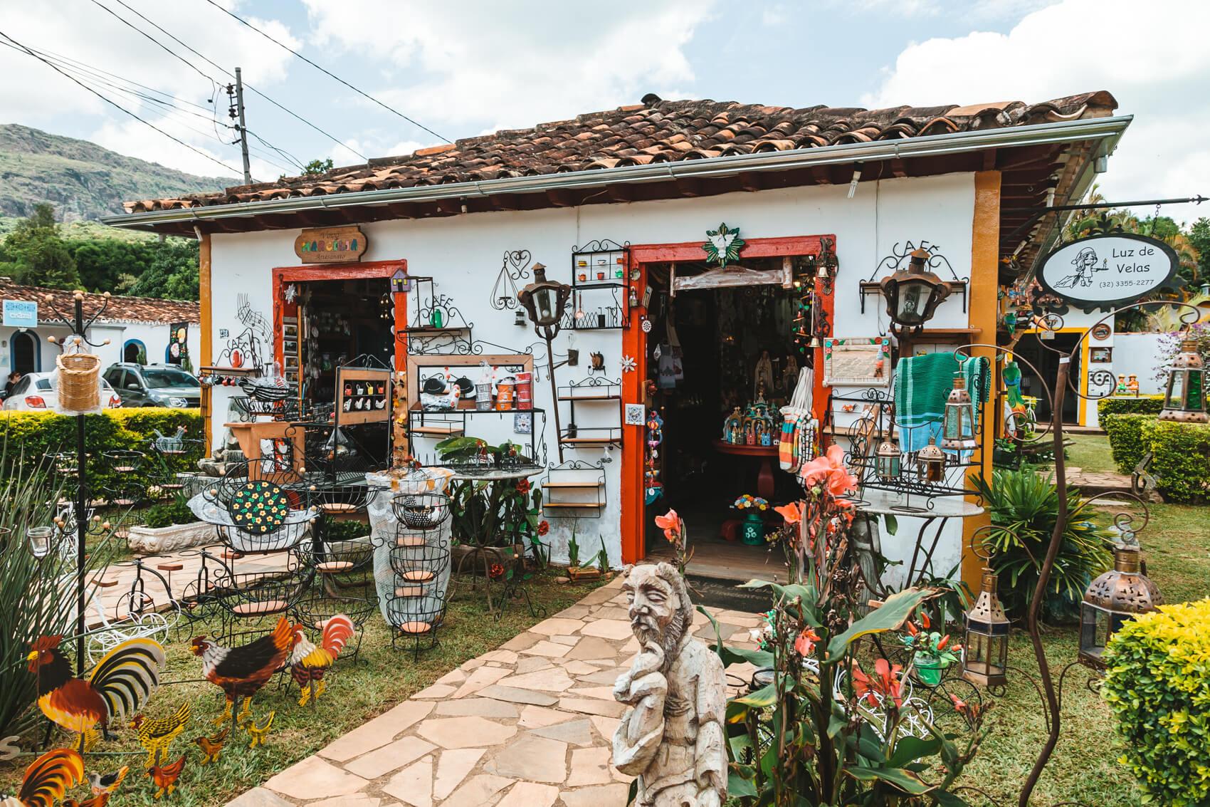 Tiradentes MG: Loja de artesanato