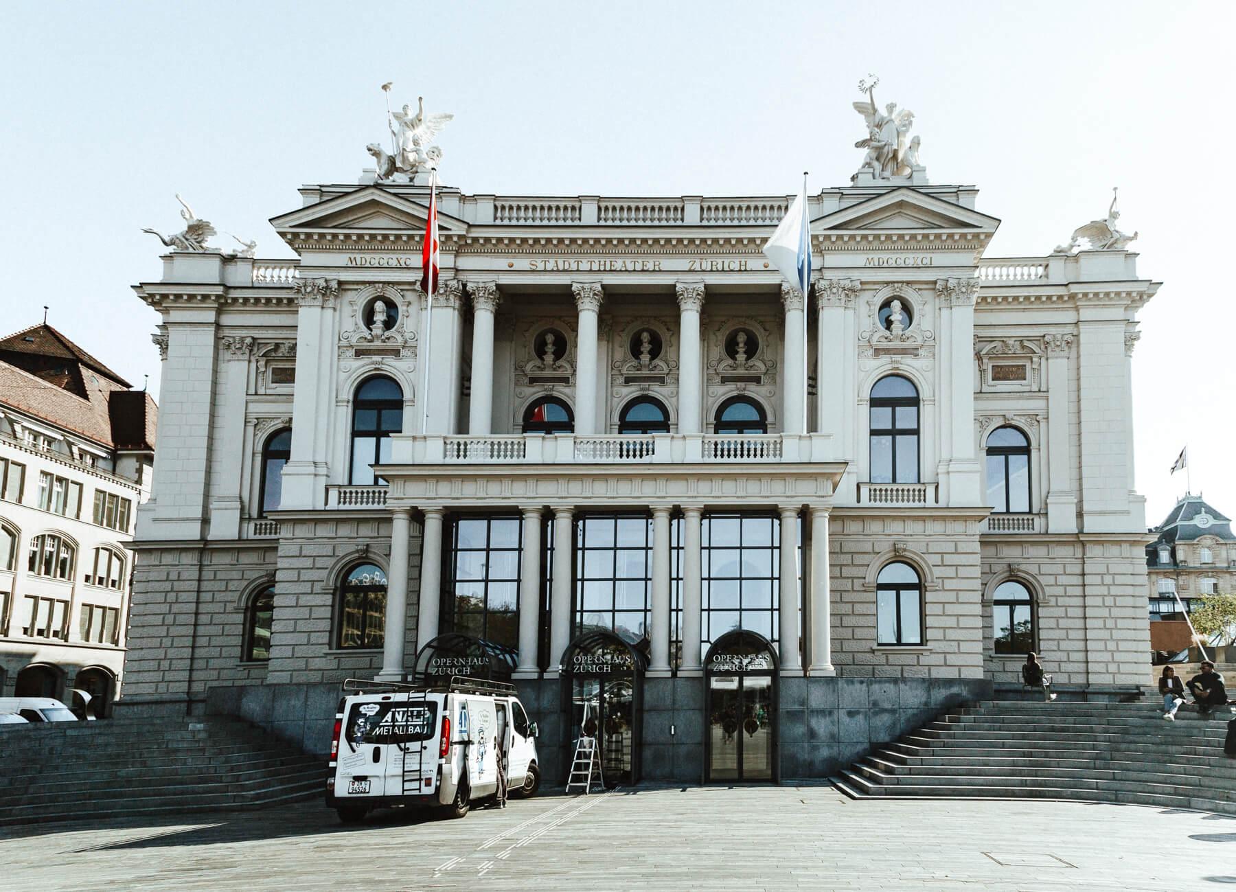 Opera house - O que fazer em Zurique - roteiro de um dia