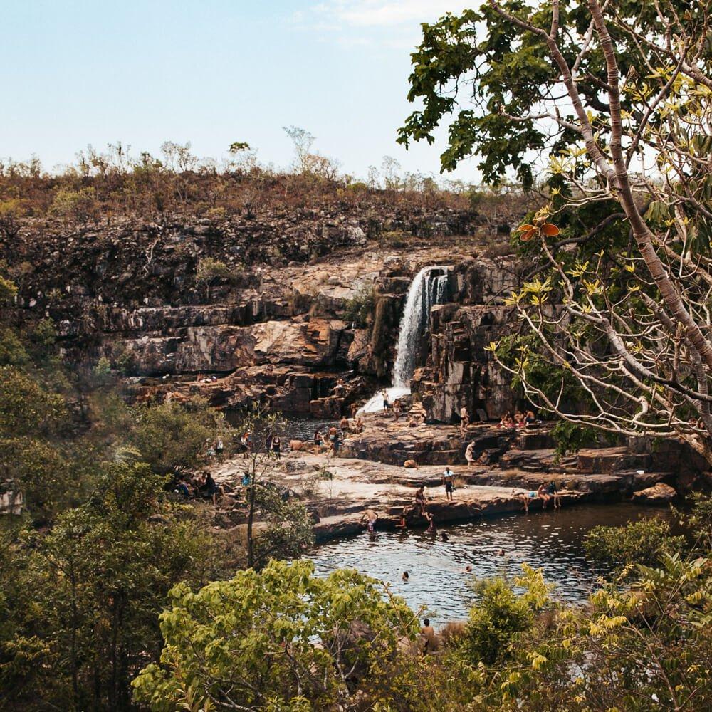 Catarata dos Couros - pouca água na época de seca