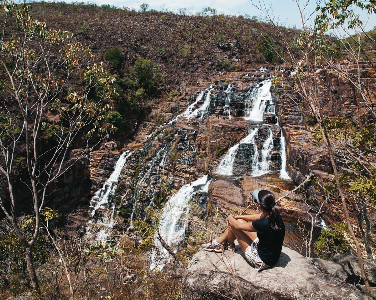Catarata dos couros: Vista de um dos mirantes da Cachoeira São Vicente