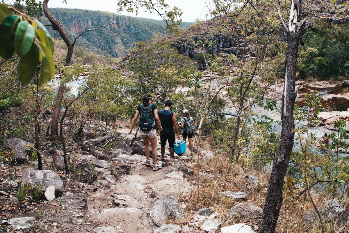 Cataratas dos Couros - trilha