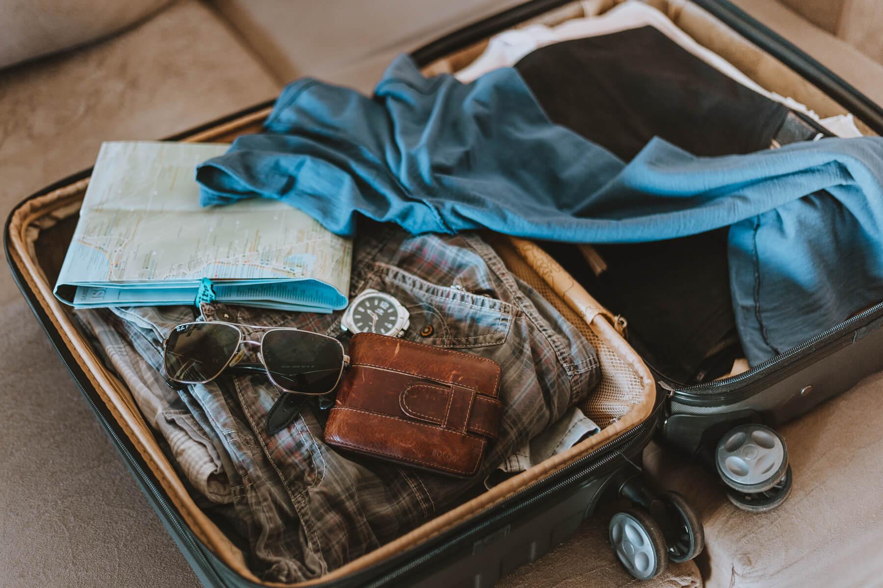 Como planejar viagem internacional: mala - bagagem