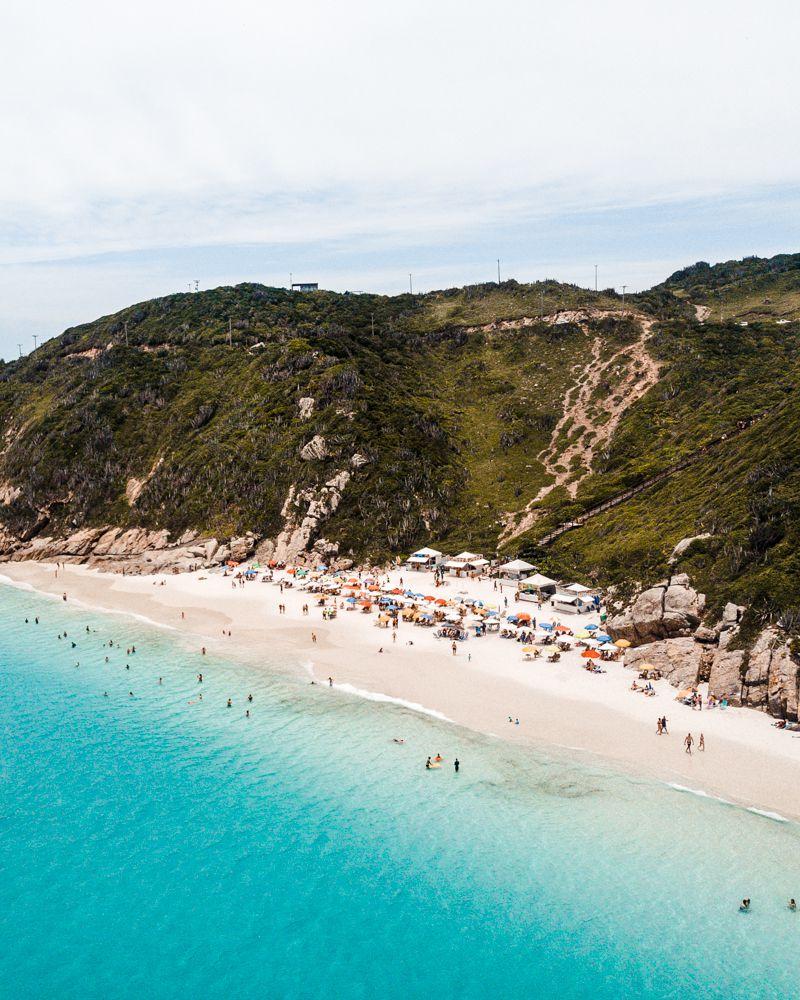 melhores praias de Arraial do Cabo: vista das Prainhas do Pontal
