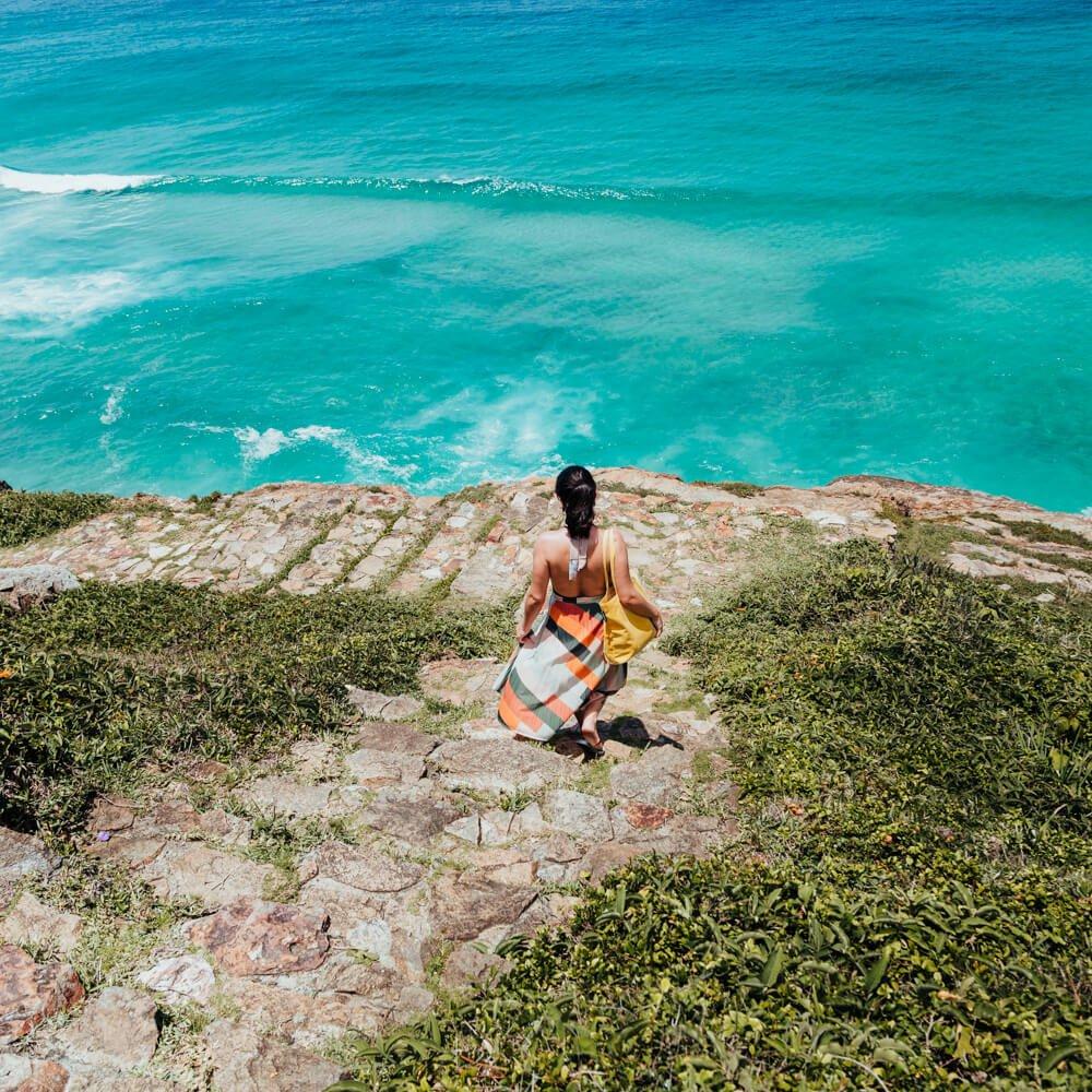 Vista do caminho para a Praia Brava