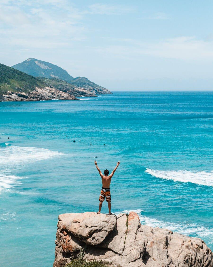 Um dos mirantes da Praia Brava, Arraial do Cabo