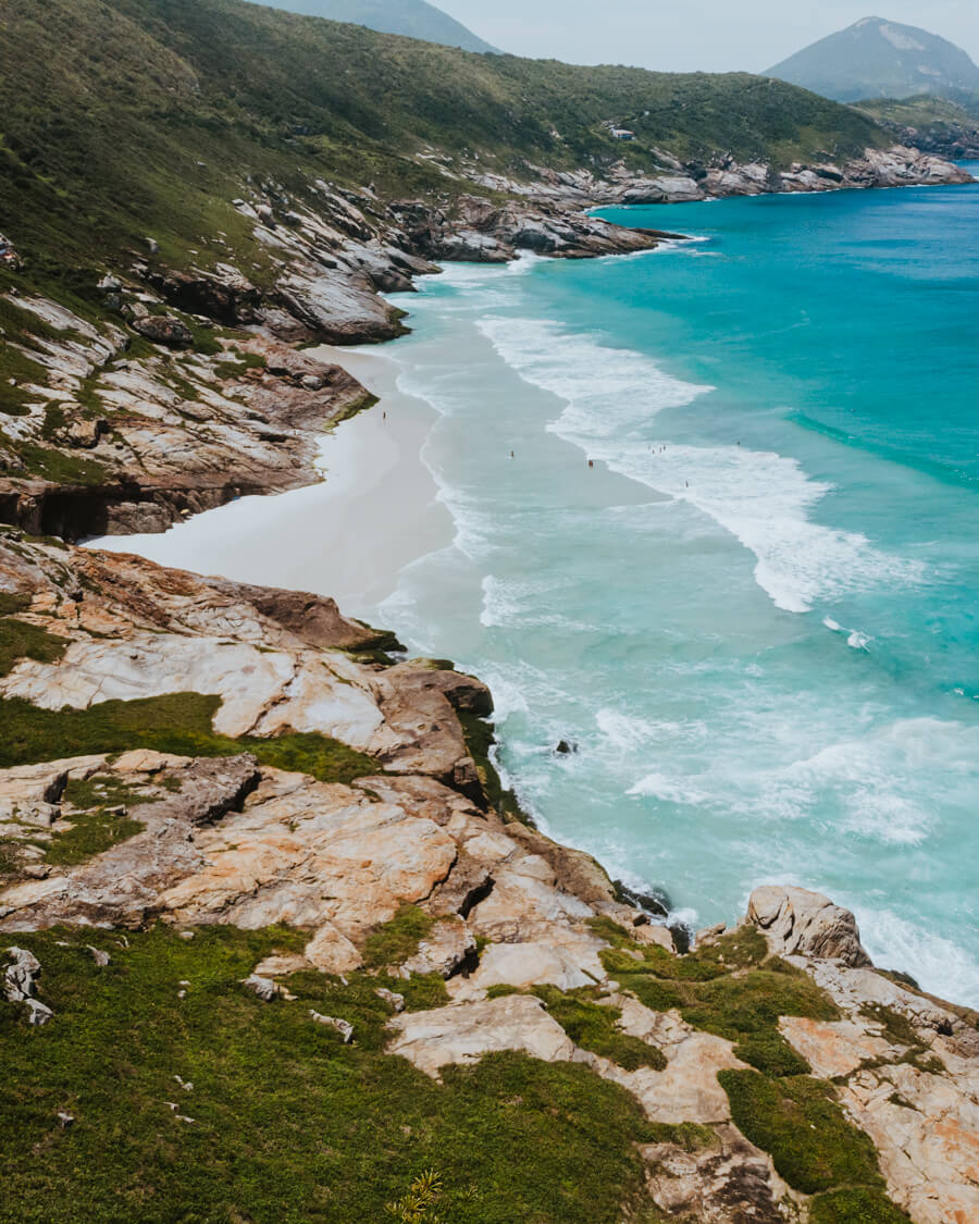 Vista da Praia Brava na maré Baixa
