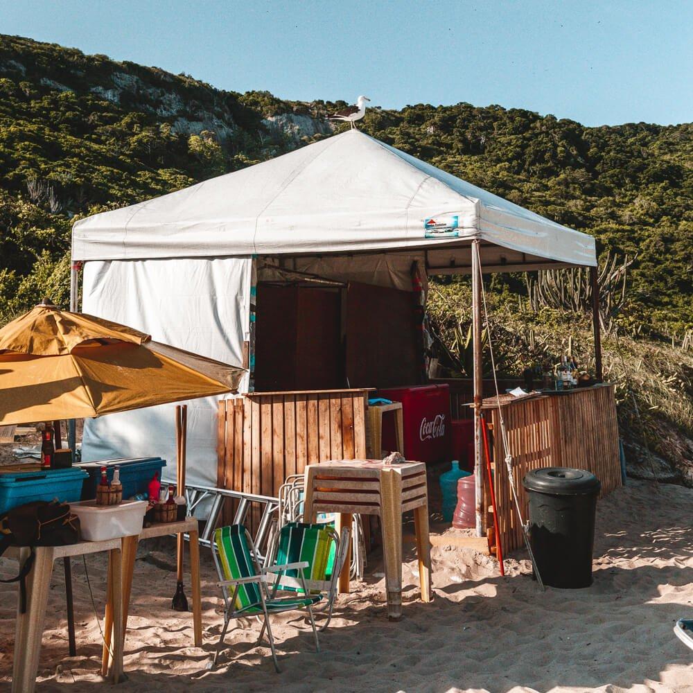 Praia do Forno, Arraial do Cabo - barraquinha