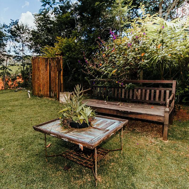 Casa Charmosa com lareira - Airbnb em Tiradentes MG - quintal