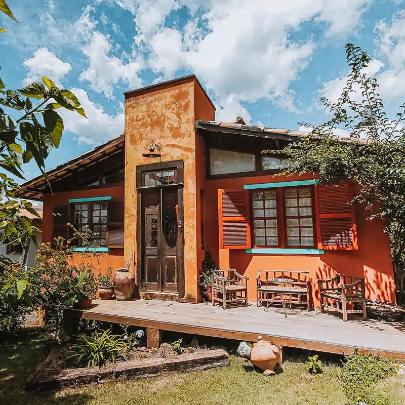 Casa Charmosa com lareira - Airbnb em Tiradentes MG - fachada