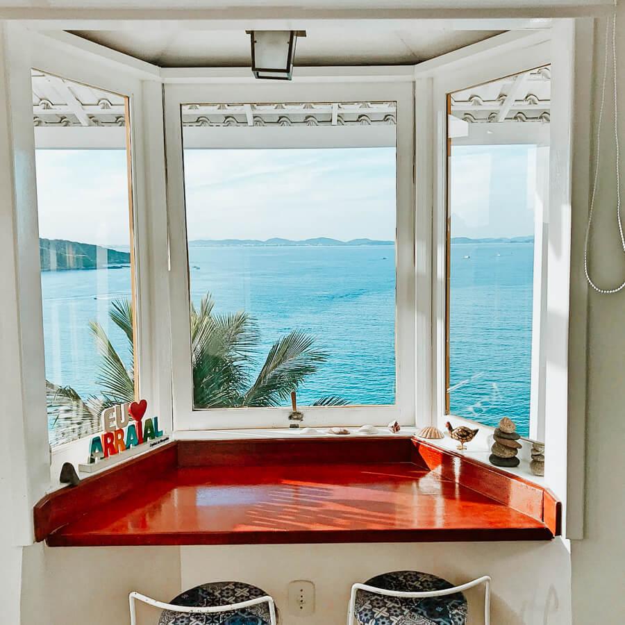Airbnb em Arraial do Cabo - vista para o mar