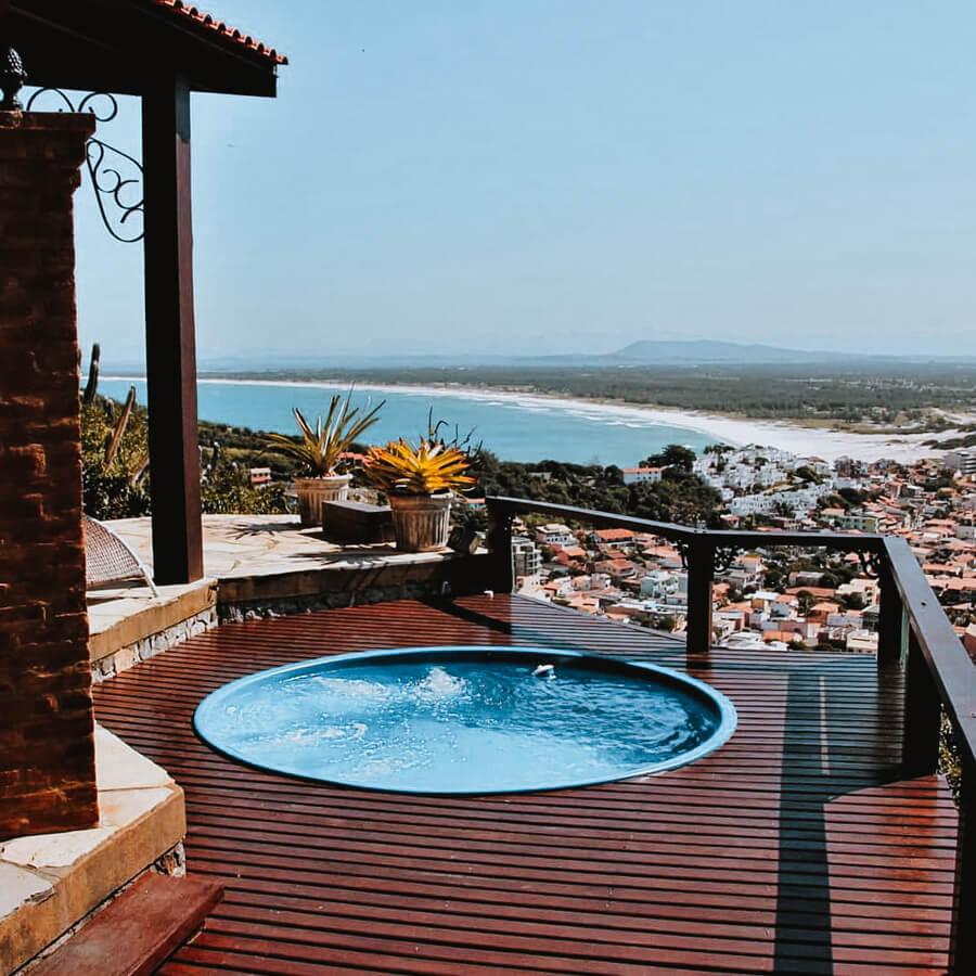 Hidromassagem com vista - airbnb arraial do cabo