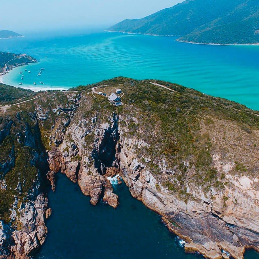 Airbnb em Arraial do Cabo: paraíso do pontal - foto aérea