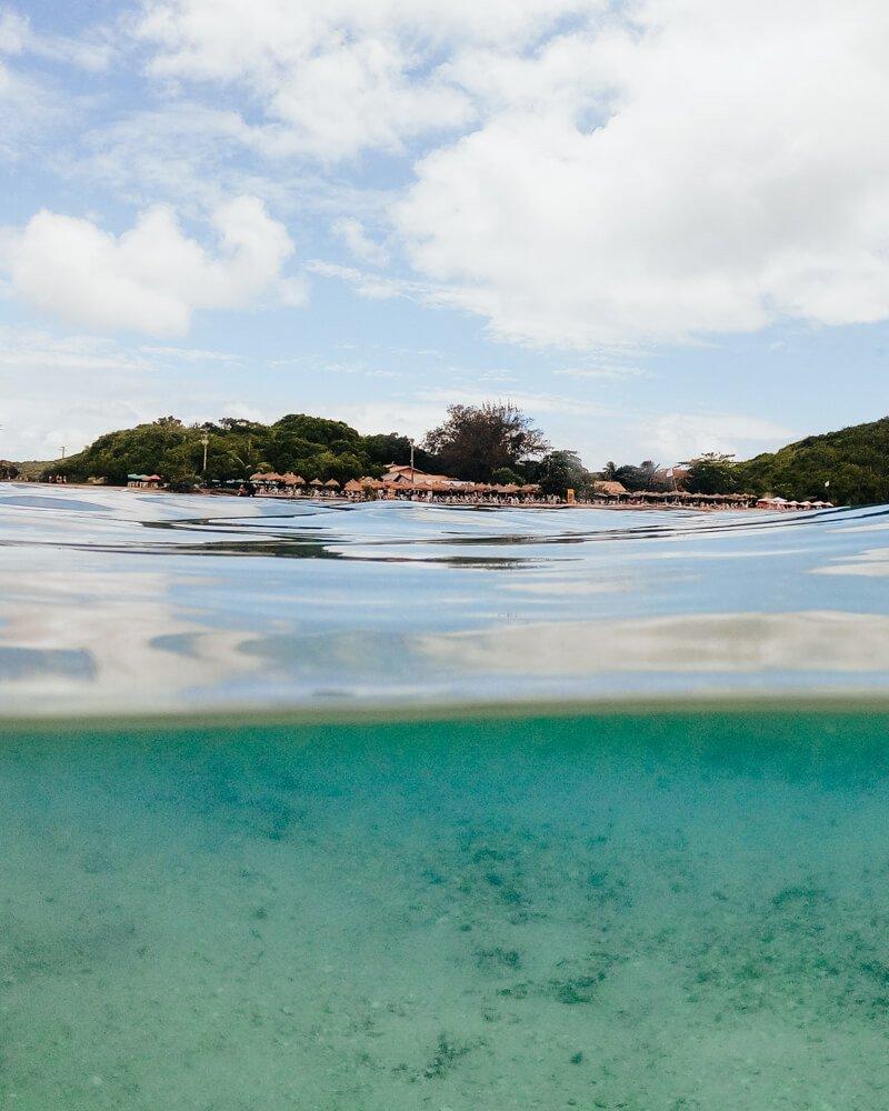 Ilha do Japonês, Cabo Frio: água transparente
