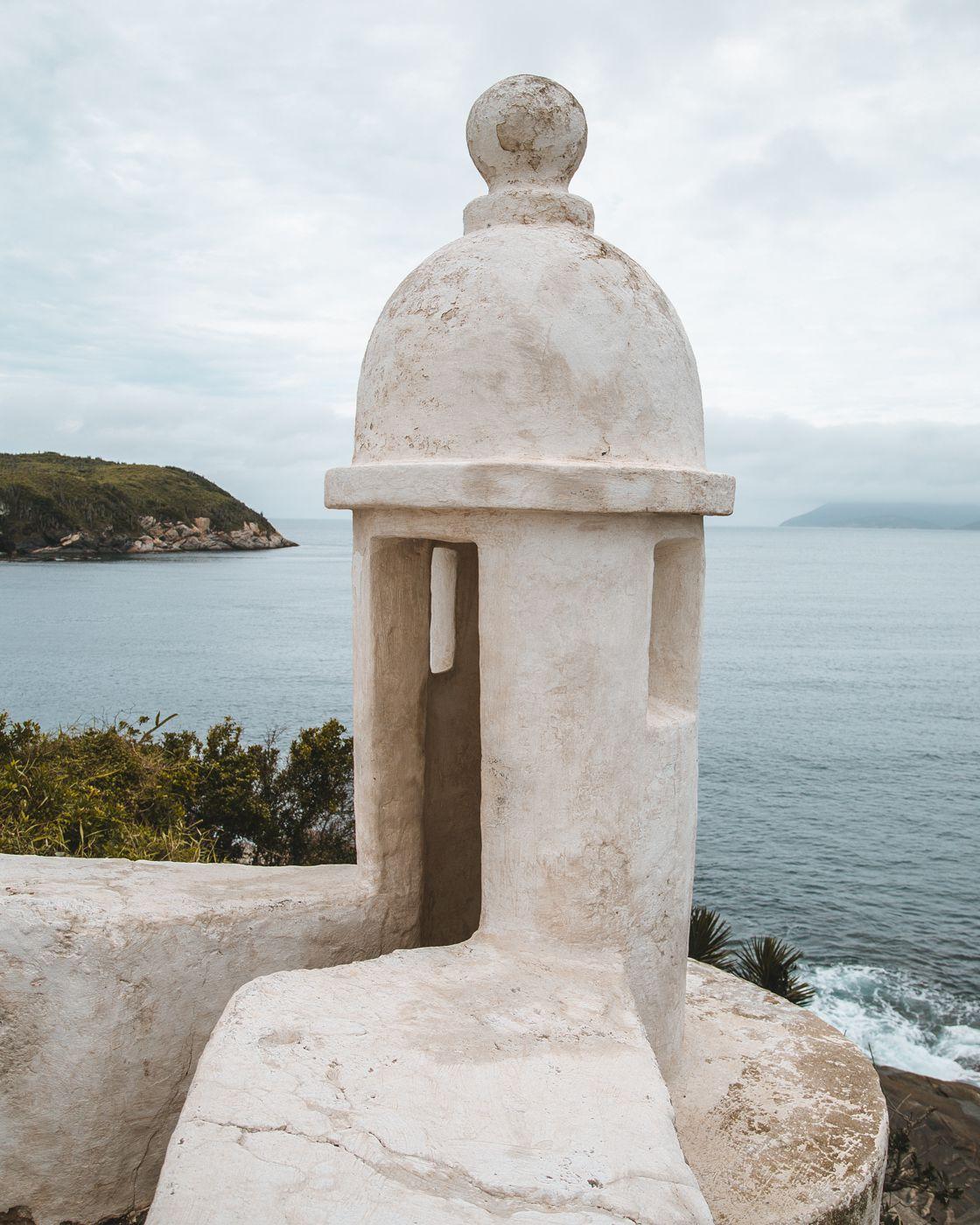 Detalhe de uma guarita do Forte de São Matheus