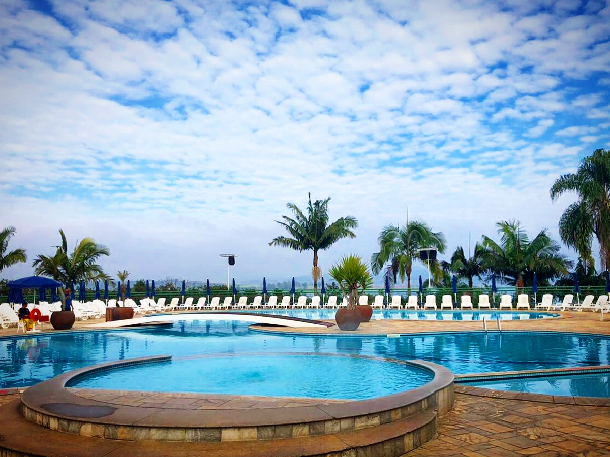 Piscina climatizada do Club Med Lake Paradise.
