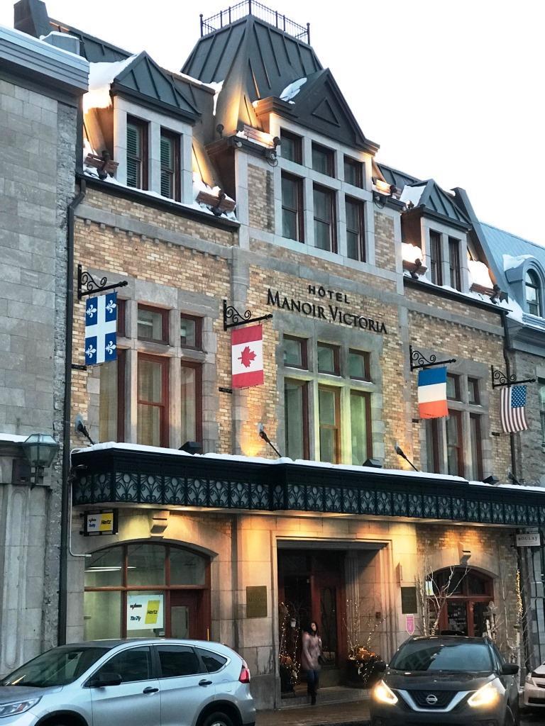 Fachada do Hotel Manoir Victoria