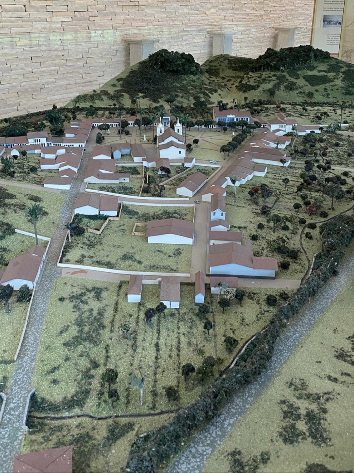 Maquete da antiga cidade de São João Marcos