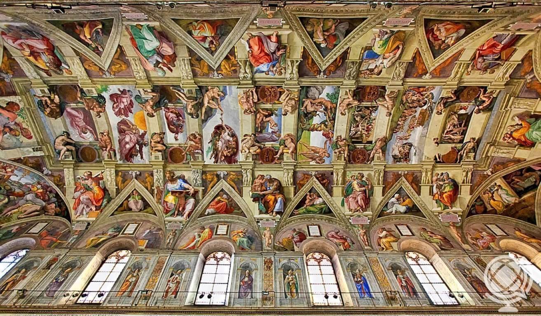 Teto da Capela Sistina pintado por Michelângelo.