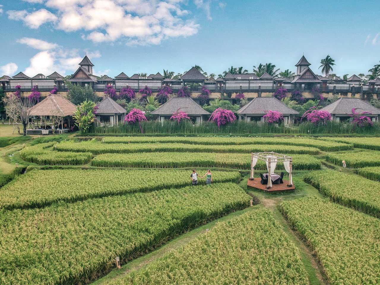 Foto de drone do Desa Visesa Ubud