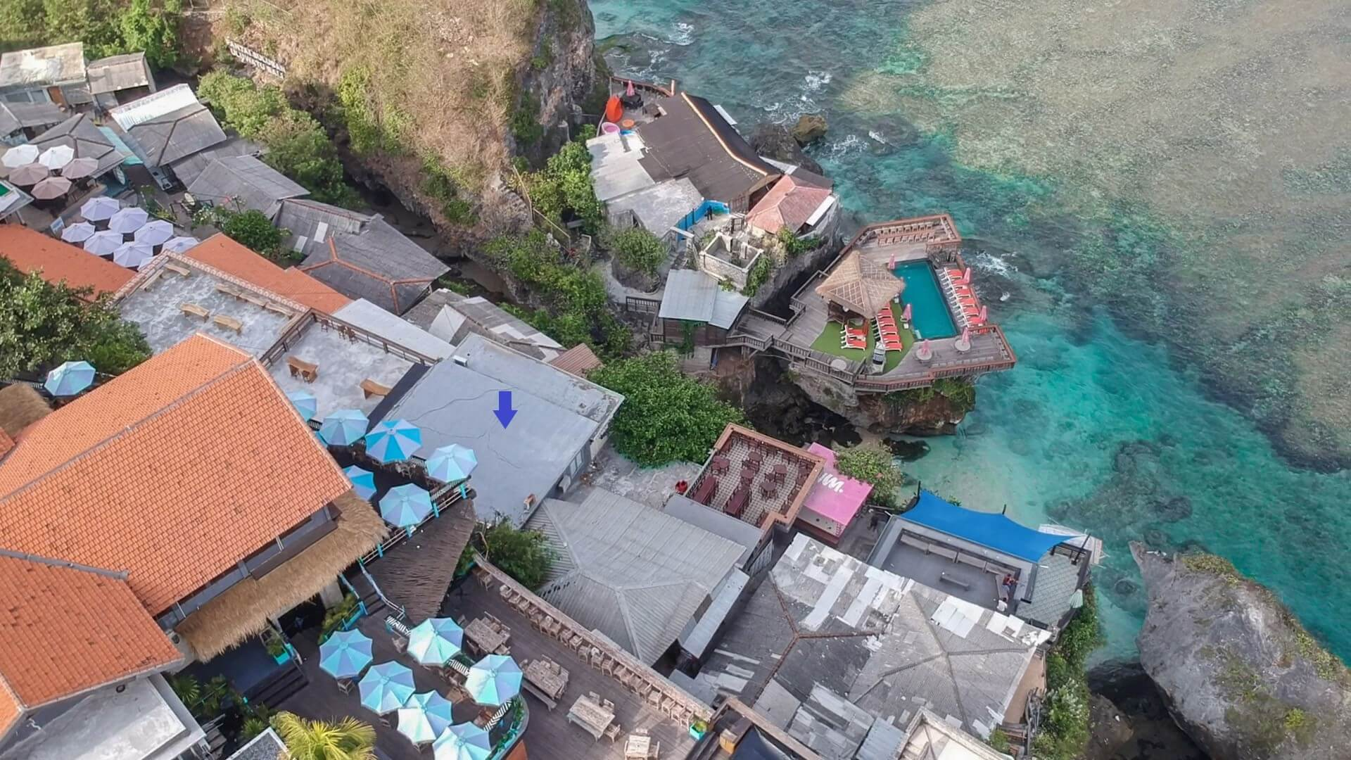 Uluwatu Cliff Apartment Blue Point Drone