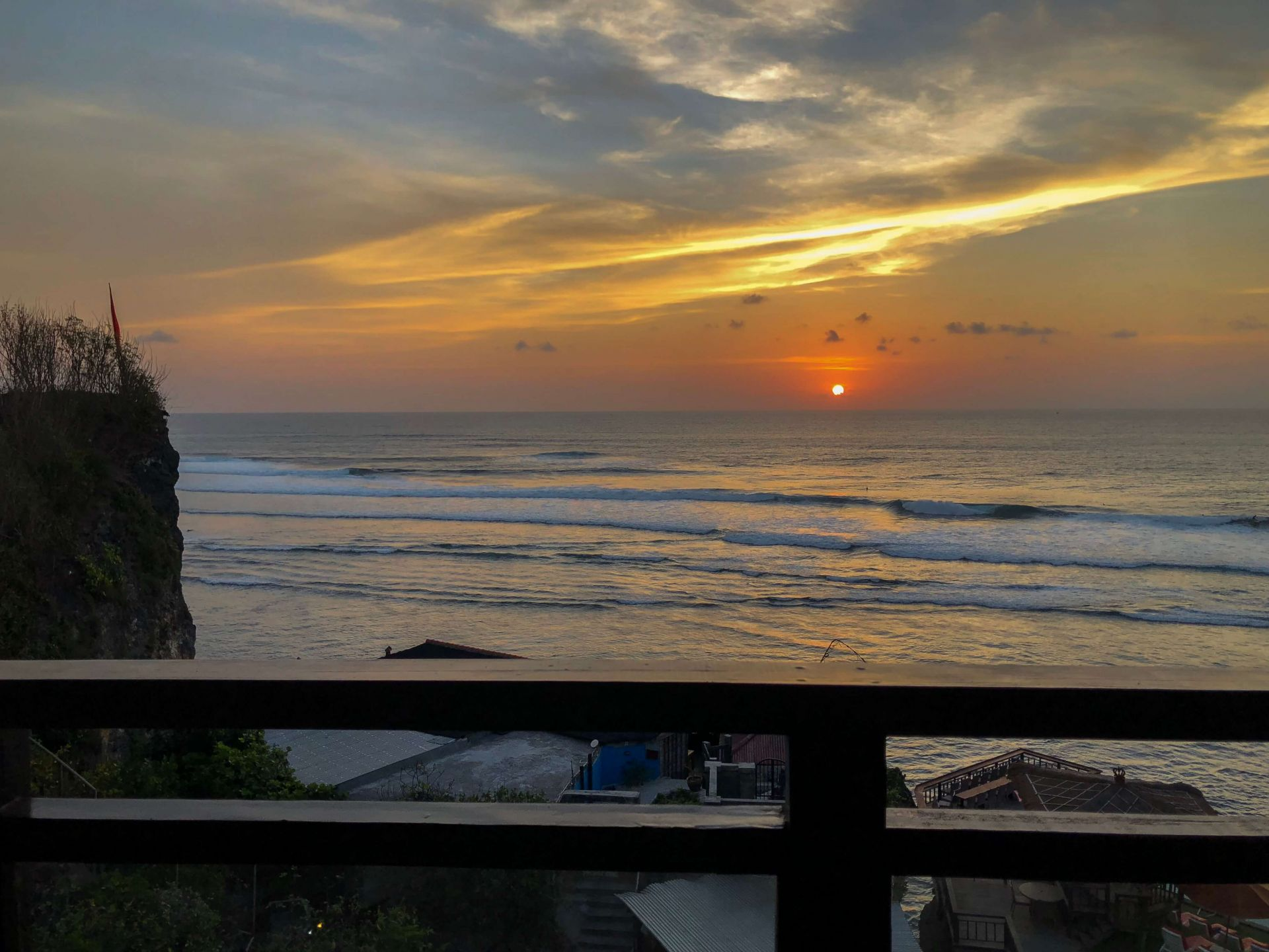 Pôr do Sol varanda Uluwatu Cliff Apartment