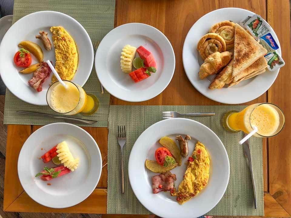 Café da manhã no UbudOne Villas