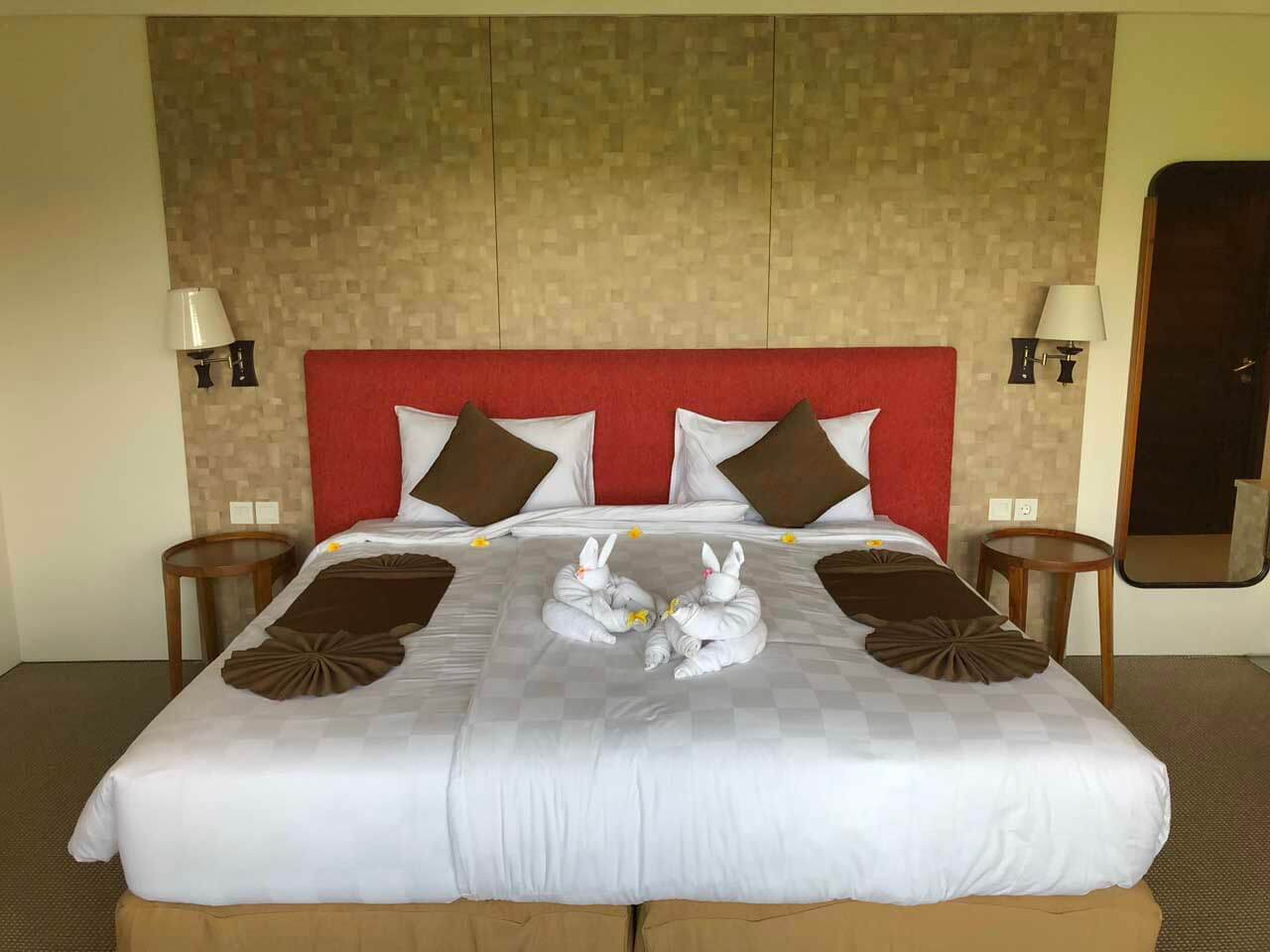 Cama do hotel UbudOne Villas