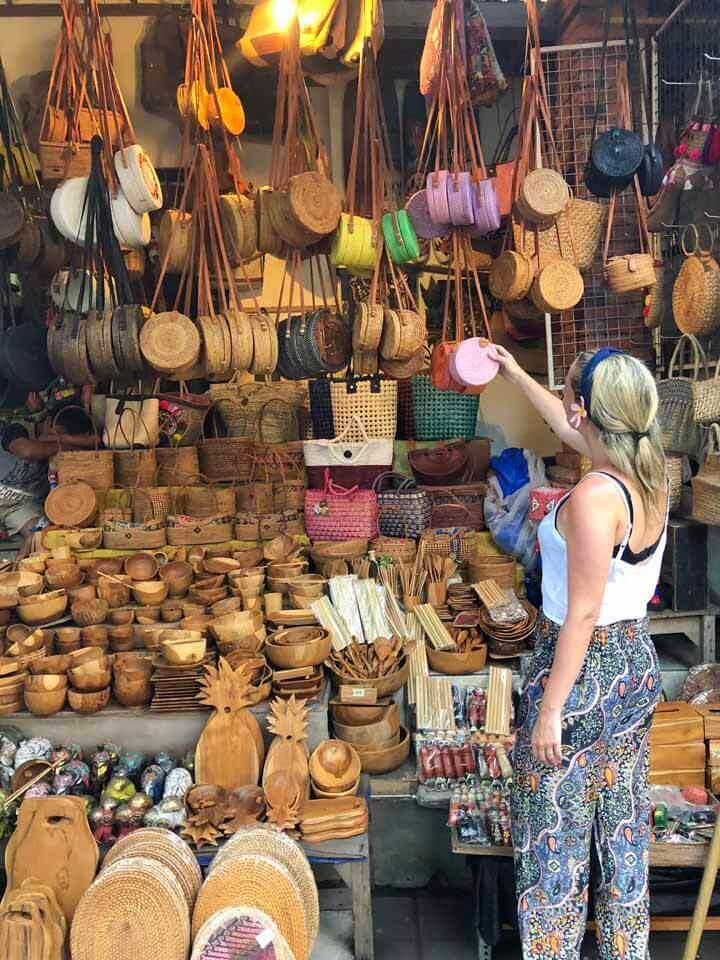 Bolsas de Rattan Ubud Market