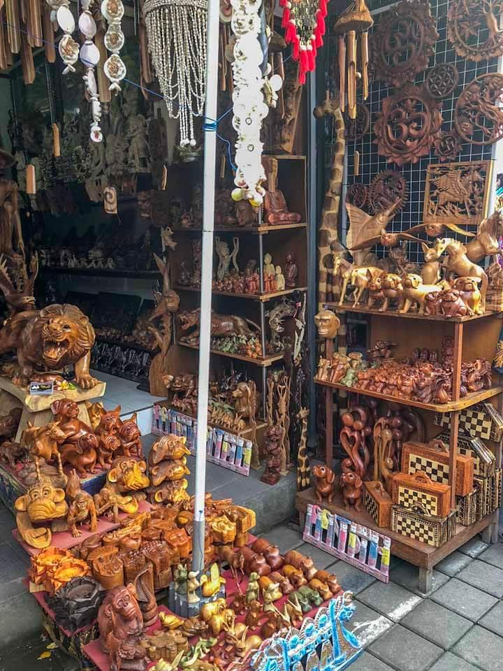 Artesanatos no Ubud Market em Ubud