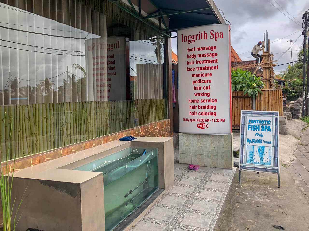 Fish Spa e massagem em Ubud