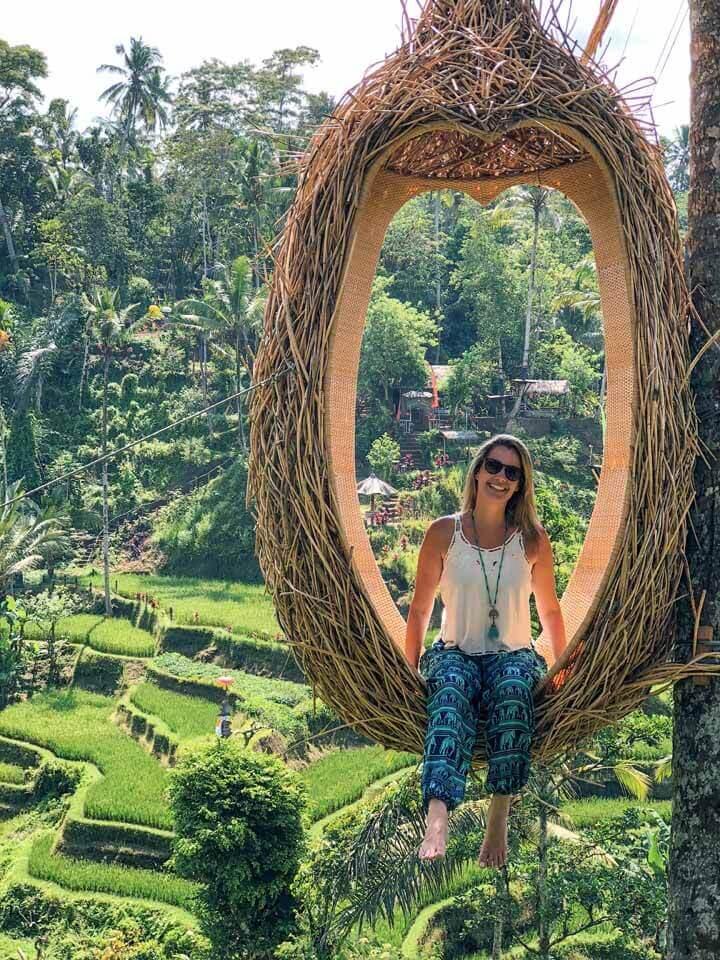 Ninho em Tegalalang Rice Terrace em Ubud