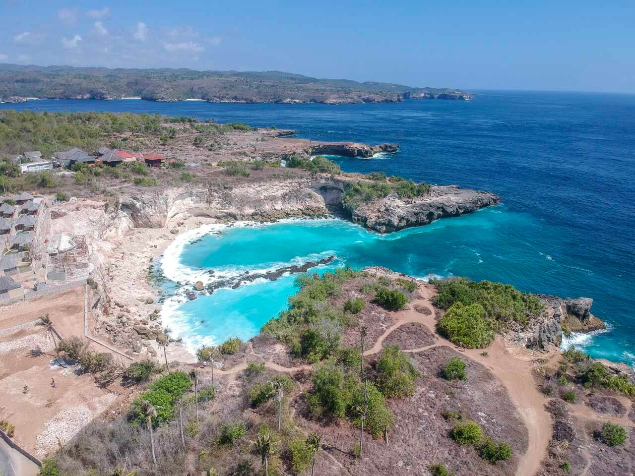 Foto aérea da Blue Lagoon em Nusa Ceningan