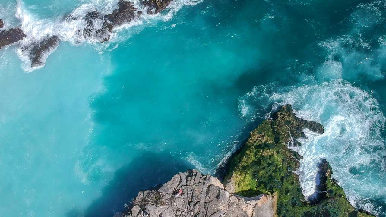 Blue Lagoon, Nusa Ceningan vista de cima