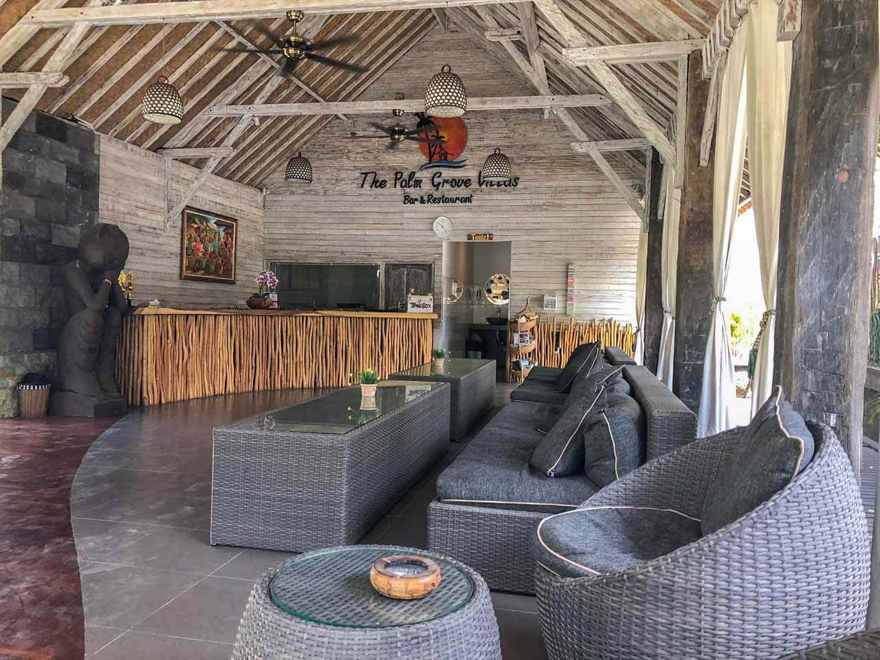 Recepção do The Palm Grove Villas