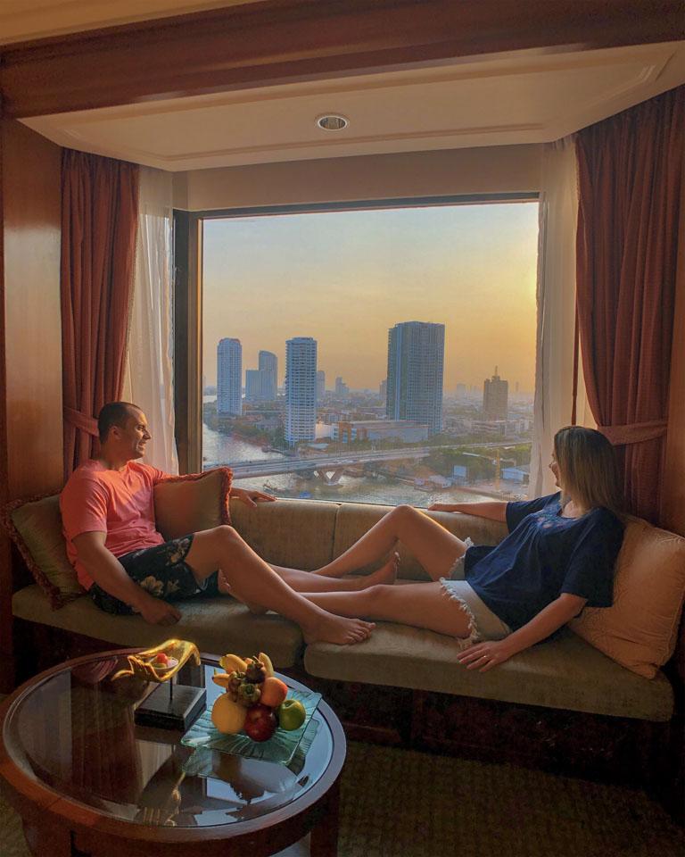 Quarto do hotel Shangri-la Bangkok