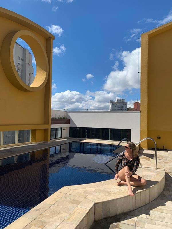 Piscina do Hotel Transamérica Executive Moema em São Paulo
