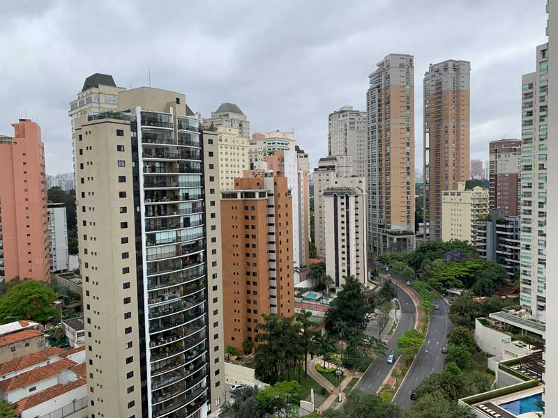 Vista da varanda quarto do Hotel Transamérica Executive Moema em São Paulo