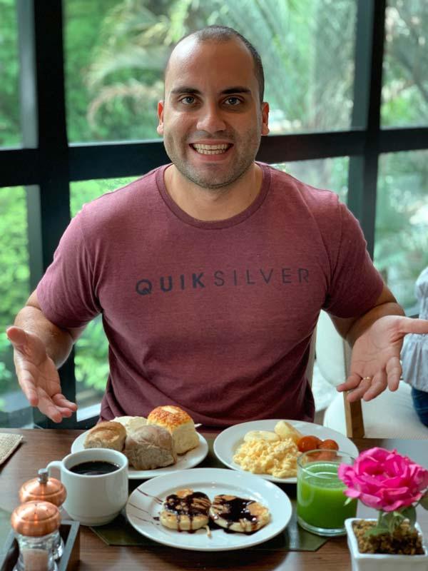 Café da manhã do hotel Blue Tree Premium em SP