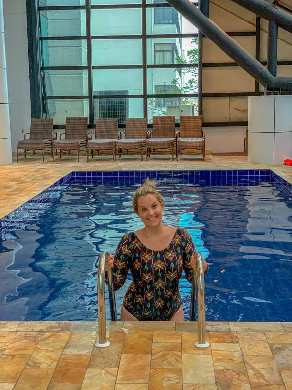 Piscina do hotel Blue Tree Premium em SP