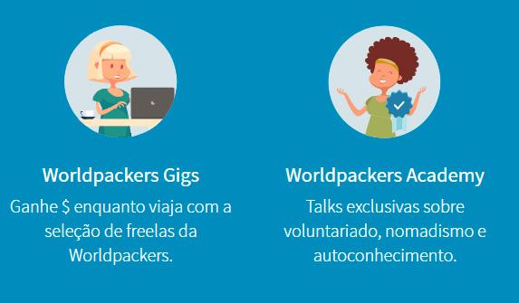 Ganhe dinheiro com a Worldpackers Gigs e Academy