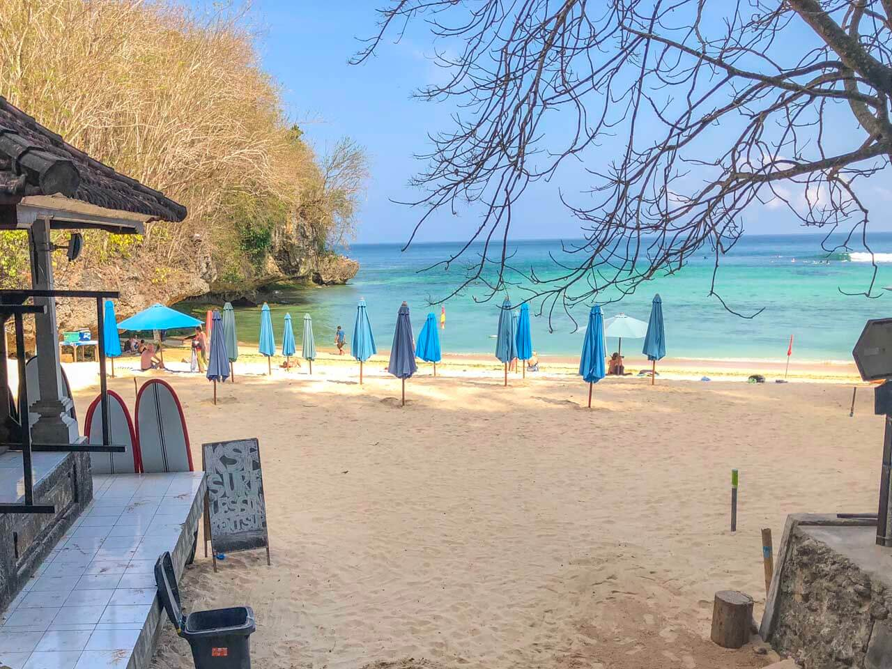 Barracas em Padand Padang Beach