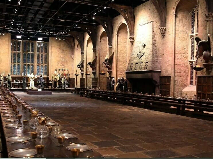 Set de filmagens nos Estúdios do Harry Potter