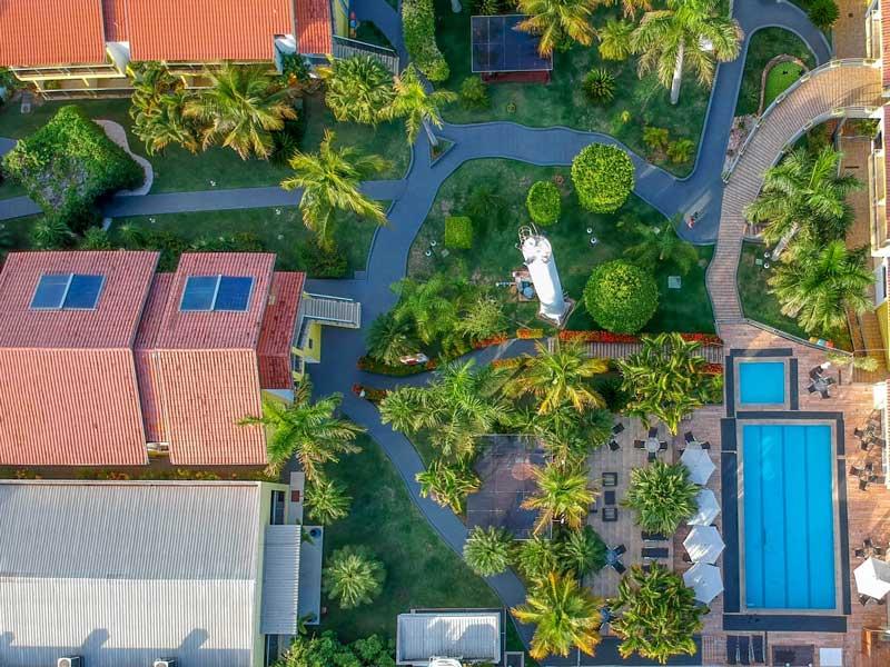 Onde ficar em Bonito: Vista aérea do Marruá Hotel