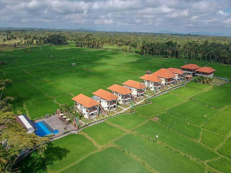 Hospedagem em Ubud: Foto aérea do UbudOne.