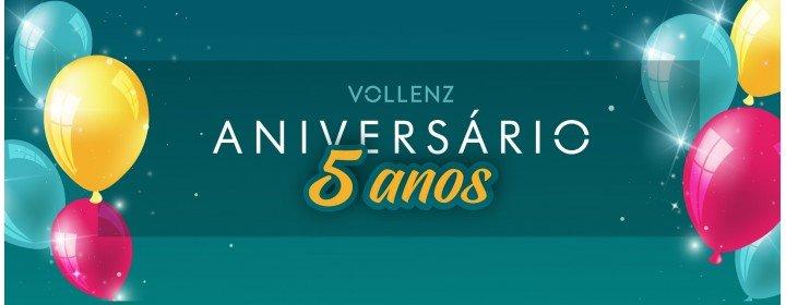 Vollenz 5 anos - Desconto especial de aniversário